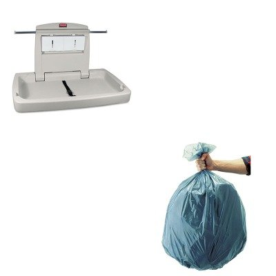 KITRCP501188GRARCP781888 - Value Kit - Rubbermaid 7818-88 Baby Changing Station Horizontal (RCP781888) and Rubbermaid 5011-88 Tuffmade Polyliner Low-Density Can Liners, 55 Gallons (RCP501188GRA)