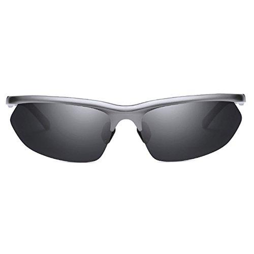 Irrompible sol Lente Marco Polarizadas de de y JULI Gris Negro Aleación aluminio Marco Deportes Hombre magnesio Mujer Moda Gafas pTxqOS