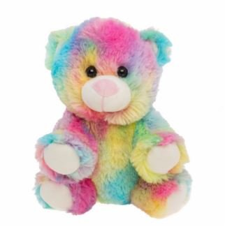 Cuddly Soft 8 inch Stuffed Rainbow Bear.We stuff 'em.you love 'em!