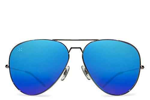 Shady Rays Aviator Elite Polarized Metal Sunglasses Sky