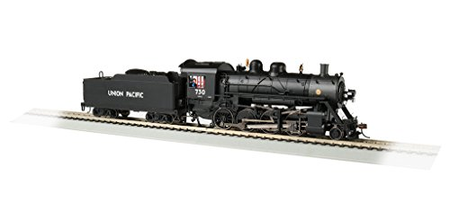Bachmann Baldwin 2-8-0 DCC Sound Value Equipped Locomotive - Union Pacific #730 - HO Scale, Prototypical Black