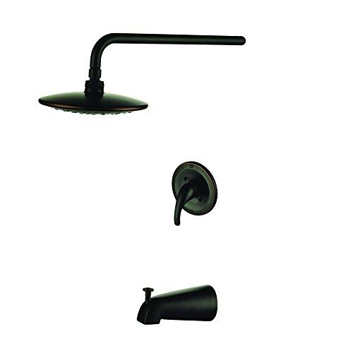 Yosemite Home Decor YP5745TS-ARB single Handle Pressure Balanced Tub & Rain Shower, Oil Rubbed Bronze Finish