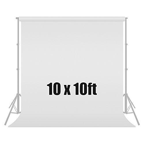 Julius Studio 10 ft X 10 ft White Chromakey Photo Video Photography Studio Fabric Backdrop Background Screen, JSAG112 by Julius Studio