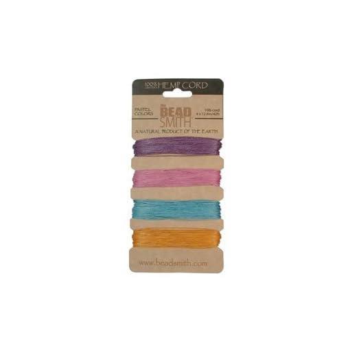 Hemp Twine Bead Cord  55mm - Pastel Colors App 42 Feet