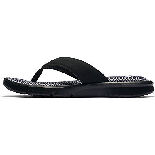 Nike Womens Ultra Comfort Thong Print, Black/White, 5