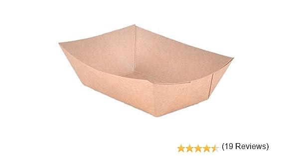 Bandeja de Alimentos del papel fabricado en ECO – Friendly Kraft cartón, ideal para Picnics, carnavales, y más. Holds Nachos, patatas fritas, caliente maíz Perros, etc. 1 lb: Amazon.es: Hogar