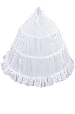 AMJ Dresses Inc Girls 3-Hoop Flower Girl Crinoline Petticoat Skirt