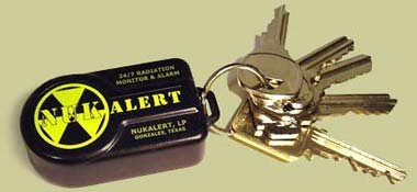 NukAlert™ nuclear radiation detector / monitor (keychain attachable) alarm from KI4U