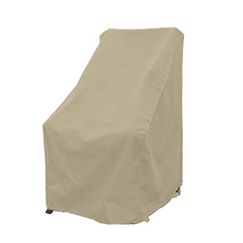 Premium Tight Weave Patio High Back Chair Covers with Peel and Stick Fasteners Protects Furniture up to 42