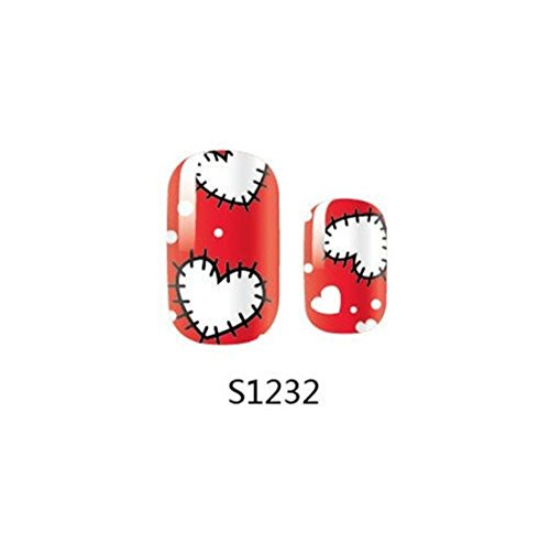 1 Pack Wise Full Fashion Acrylic Decals Foils Glitter Popular Nail Art Stickers Style Code S1232