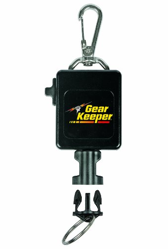 Hammerhead Industries Gear Keeper RT3-0092 Locking Large Flashlight and Camera Retractor Stainless Steel Snap Clip Mount with Q/C-II Split Ring Accessory