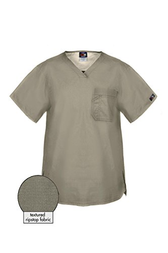 MediFit Men's Premium Quality Rip Stop One Pocket Scrub Top(Mentop-Med,GRY-3XL) Premium Knit Tee