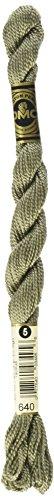 DMC 115 5-640 Pearl Cotton Thread, Very Dark Beige Gray, Size 5