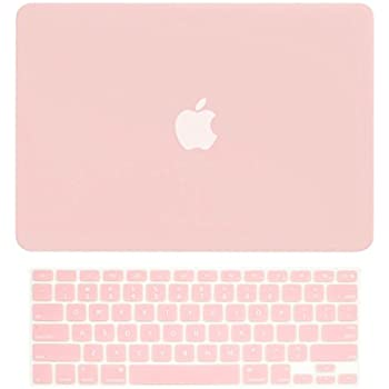 """TOP CASE - 2 in 1 Bundle Deal Rubberized Hard Case and Keyboard Cover for Old Generation Macbook Pro 13-Inch (13"""" Diagonally) with CD-ROM / DVD DRIVE A1278 - NOT for retina display - Rose Quartz"""