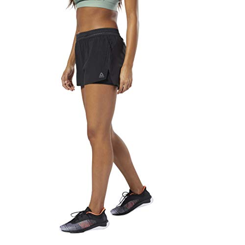 (Reebok One Series Epic Training Short for Women, Black, Black)