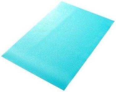 DRSPD 4本セット/冷蔵庫パッド抗菌防汚カビ水分調整可能なパッド冷蔵庫マット冷蔵庫防水 (Color : Blue)