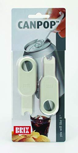 Brix 3311 CanPop Beverage Can Opener, Set of 2, Multicolor