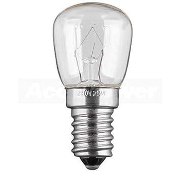 AccuPower Frigorífico E14, 25 vatios Bombilla nevera: Amazon.es ...
