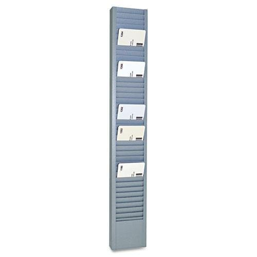 2-15//16 x 18-11//16 SteelMaster 20501 40-Pocket Steel Swipe Card//Badge Rack