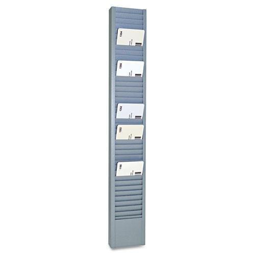 2-15//16 x 18-11//16 SteelMaster 20501 40-Pocket Steel Swipe Card//Badge Rack