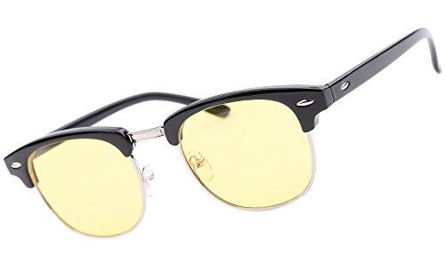 Beison Night Driving Glasses Rain Day Driving Anti Glare Polarized Sunglasses (Black, - Shuron Glasses