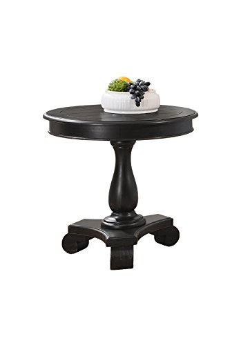 Antique Black Accent Table - 1