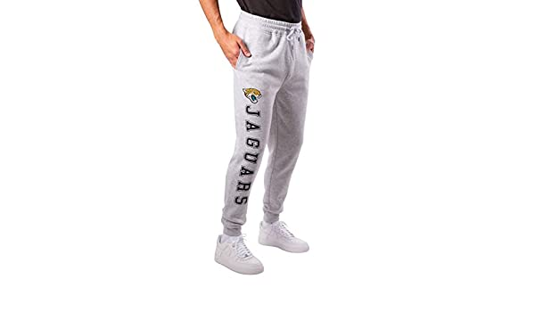 Ultra Game NFL Jacksonville Jaguars Mens Active Jogger Sweatpants Medium Heather Gray 19