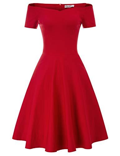 50s Dance Queen Costumes - Short Sleeve Formal Wedding Party Dress