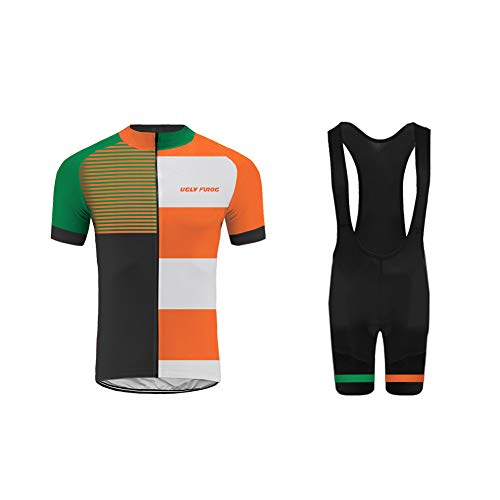 - Uglyfrog National Flag Colour Camouflage Men's Cycling Clothing Set Sportswear Suit Bicycle Bike Spring Autumn Outdoor Short Sleeve Jersey + Bib Shorts Breathable Quick-Dry USH19DT04