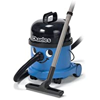 Numatic Hi-Power Wet and/or Dry Canister Vacuum Cleaner with Professional A21A Accessory Tool Kit, CVC370, Charles (Color: Blue)