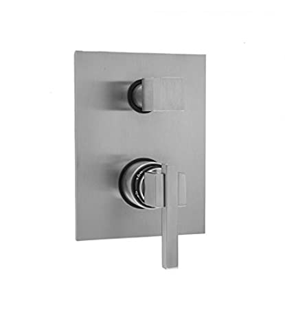 Jaclo T7502-TRIM-WH Rectangular Thermostatic Valve Trim with Thumb /& Lever Handles White
