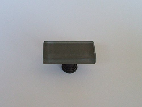 VETRO COLLECTION - GLASS KNOBS - CHARCOAL