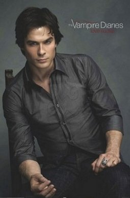 Vampire Diaries - Damon Salvatore - Chair Poster