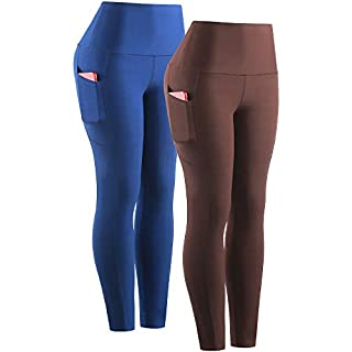 Neleus Women's High Waist Yoga Pants Tummy Control Running Workout Leggings with Pocket