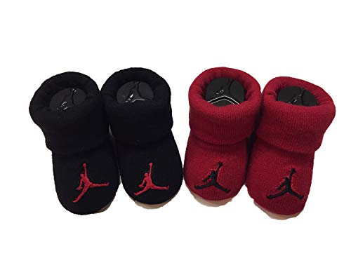 Nike Jordan Newborn Baby Booties 0-6 Month (Red/Black)