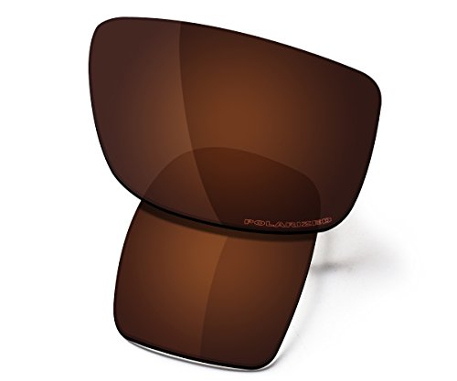 (Saucer Premium Replacement Lenses for Oakley Oil Drum Sunglasses High Defense - Amber Brown Polarized)