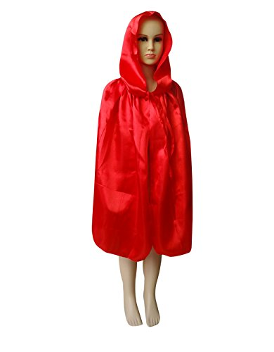 [Shapenty Child Christmas Halloween Party Devil Death Hooded Cloak Vampire Costumes Capes for Kids (Small, Red)] (Dazzling Devil Costumes)