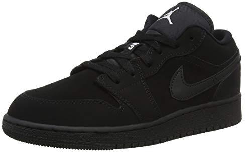 Jordan 553560-019: Kids Air Jordan 1 Low BG Black White Sneakers (6 M US Big Kid)