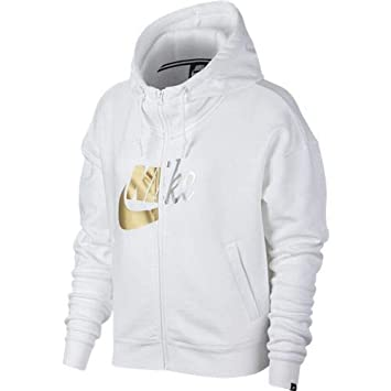 808c8686de141 Nike NSW Rally Hoodie FZ W Metallic Veste, Femme  Amazon.fr  Sports ...