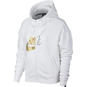 f7c8bdc05d2e Image Unavailable. Image not available for. Color  Nike Women s Sportswear  Metallic Rally Full-Zip Hoodie