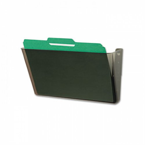 DocuPocket Stackable Wall Pocket, Plastic, Letter, 13 x 4 x 7, Smoke -