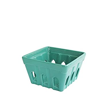 American Atelier Square Berry Basket, Green