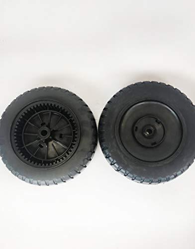 LMTS Set of 2 9 x 2 Tiger Tread Black Plastic Wheel - Replaces Craftsman 180763