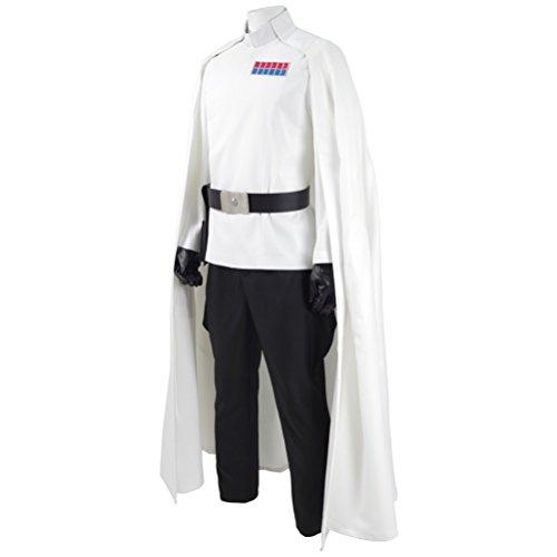 Fancycosplay Mens Battle Uniform White Cloak Full Set Cosplay Costume (Man-XXL) by Fancycosplay (Image #1)