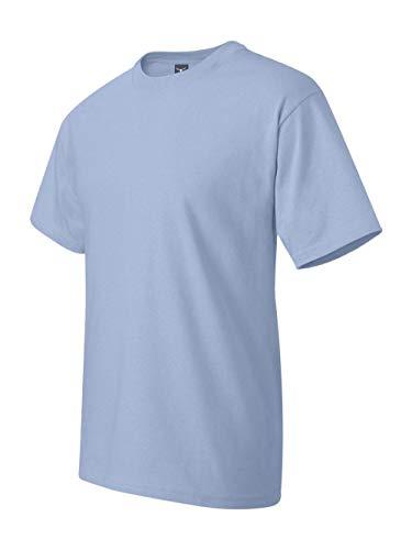 Hanes Beefy-T Adult Short-Sleeve T-Shirt (Light Blue, Medium)