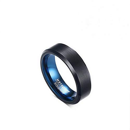 Campton Mens Trendy Black Band Size 7-12 Luxury Tungsten Steel Engagement Wedding Ring | Model RNG - 1286 | 9