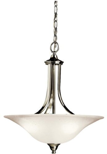 Kichler 3502NI Dover Pendant/Semi-Flush 3-Light, Brushed -