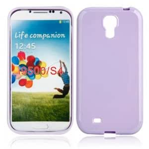 Solid TPU Protective Case for Samsung i9500 Light Purple