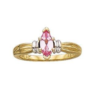 Ann Harrington Jewelry 14k 2-tone Gold 8x4 mm Marquise Ring -