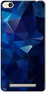Cover It Up - Dark Blue Pixel Triangles Xiaomi RedMi 3s Hard Case